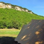 Fresh air pitches at camping maisonneuve - dordogne - perigord noir