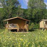 Tente Safari in camping maisonneuve - dordogne - perigord noir