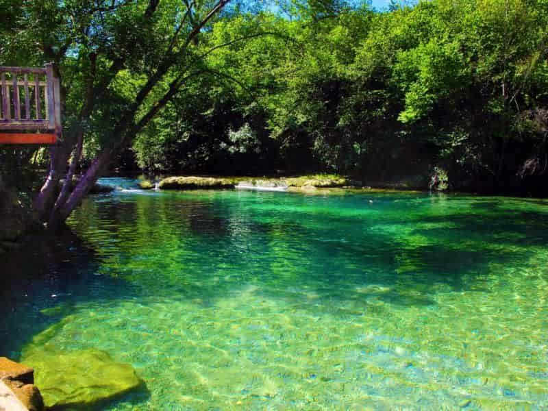 cristal clear waters camping in france